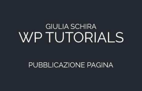 Come pubblicare una pagina su Wordpress